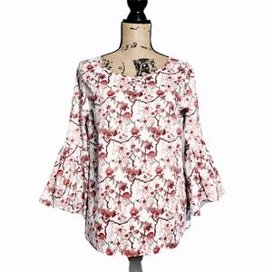 Jane and Delancey floral top